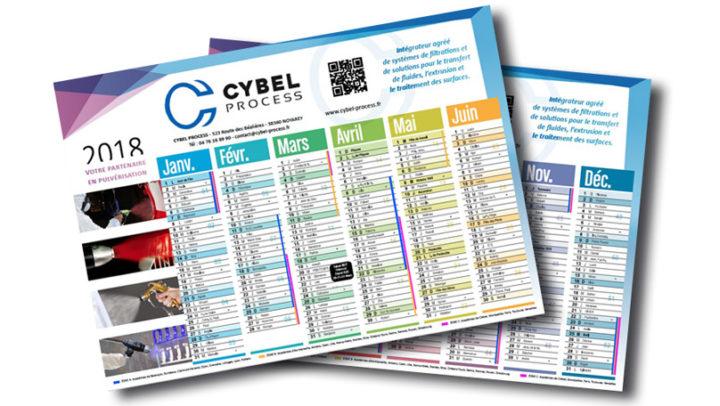 Calendrier 2018 CYBEL PROCESS